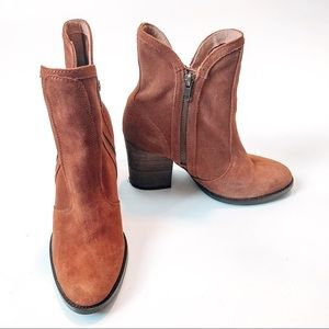Seychelles Blush Suede Lori Penny Boots 7.5